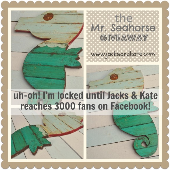 Wooden Seahorse Giveaway