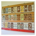 Metal letter stencil wall art tutorial…