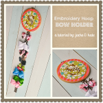 Embroidery Hoop Bow Holder Tutorial
