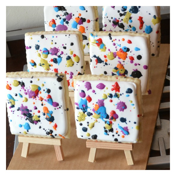 paint splatter cookies