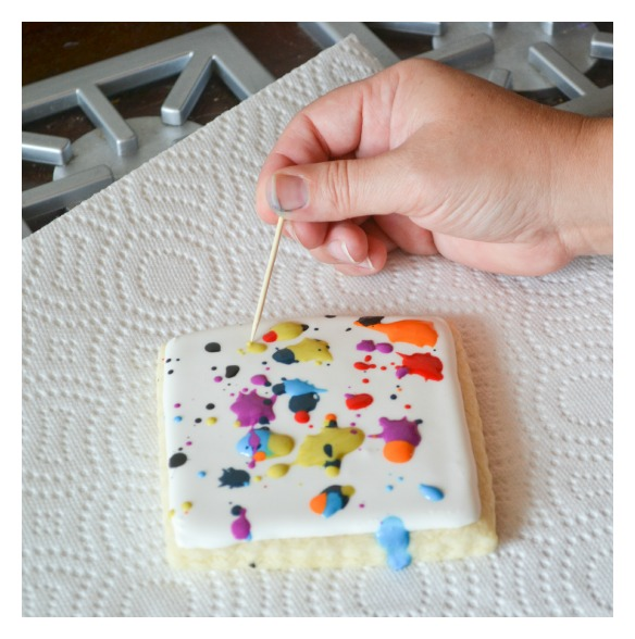 paint splatter canvas cookies