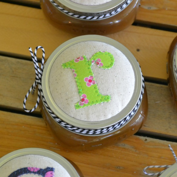 mason jar fabric lids
