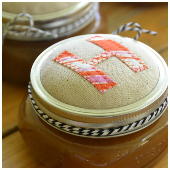 fabric mason jar lid