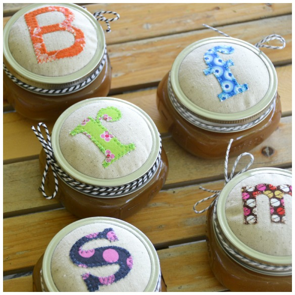 mason jar lids fabric