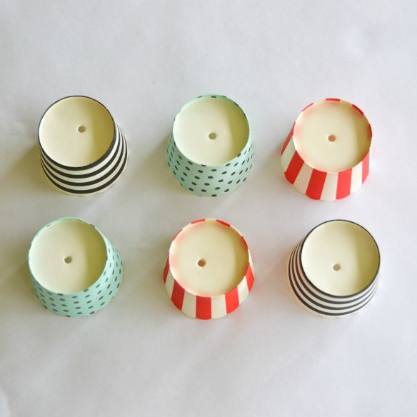 cupcake liner party lights