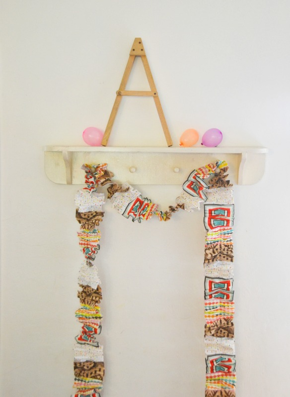 cheap and easy party garland