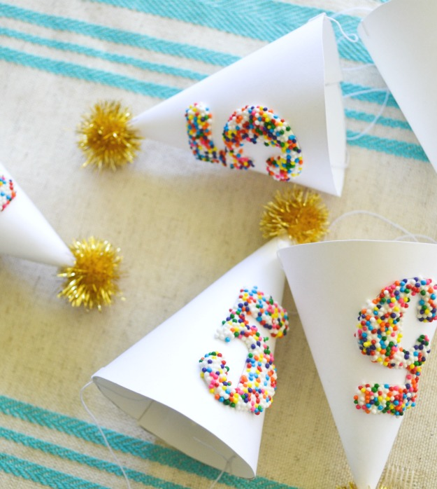 Sprinkled Mini Party Hats  - Jacks And Kate