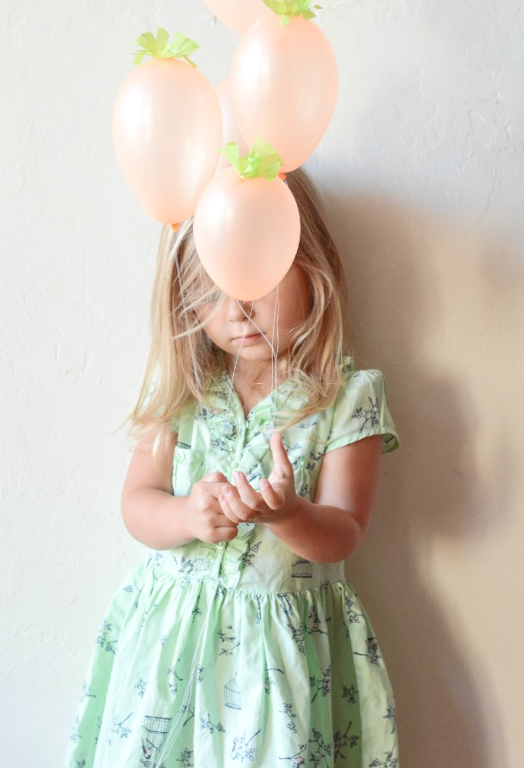 mini carrot balloons easter