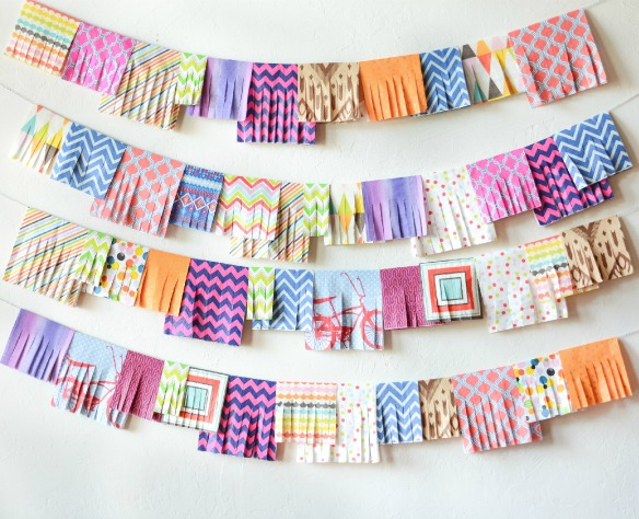 party napkin garland