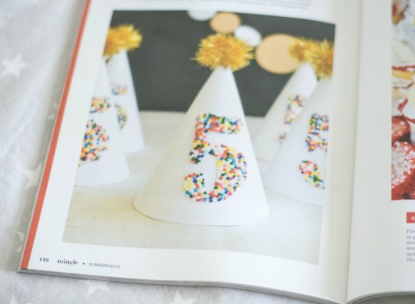 sprinkled party hat