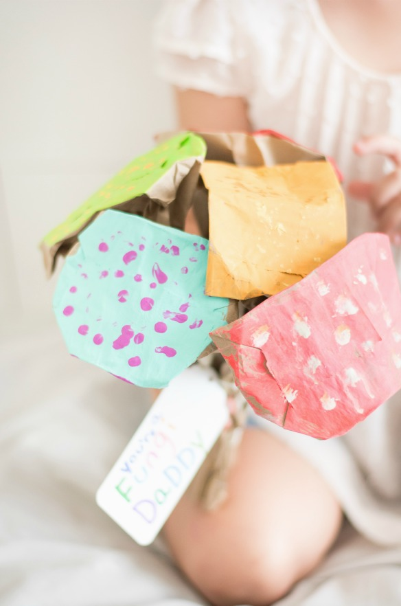 paper bag mushroom bouquet