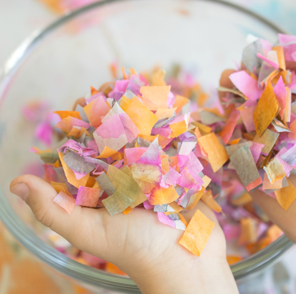 handmade confetti ghosts