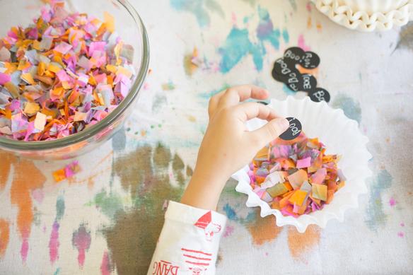 handmade watercolor confetti