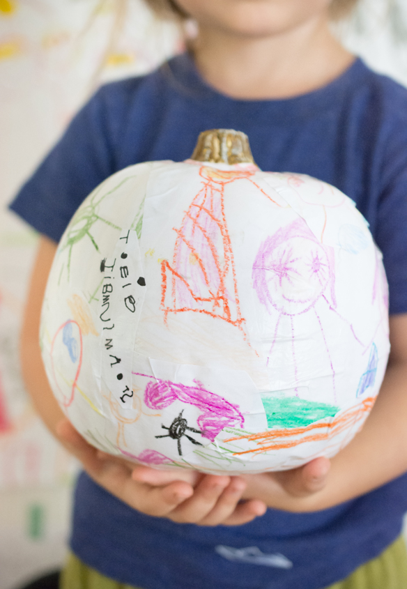 kid art pumpkins